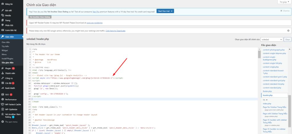 Cài đặt Google Analytics bằng cách chèn mã code vào website