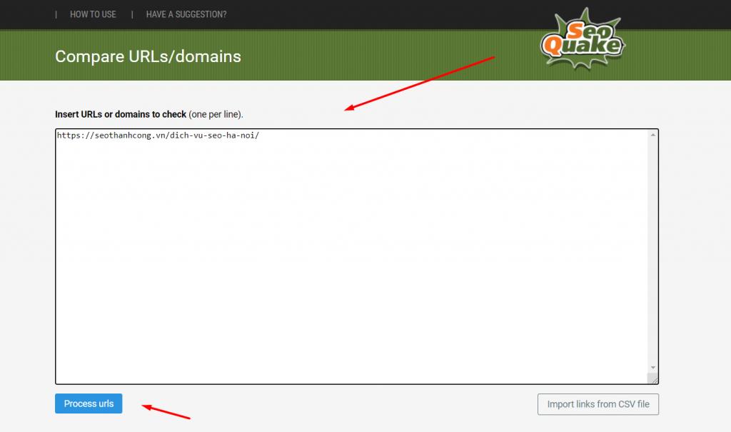 Công cụ so sánh URL