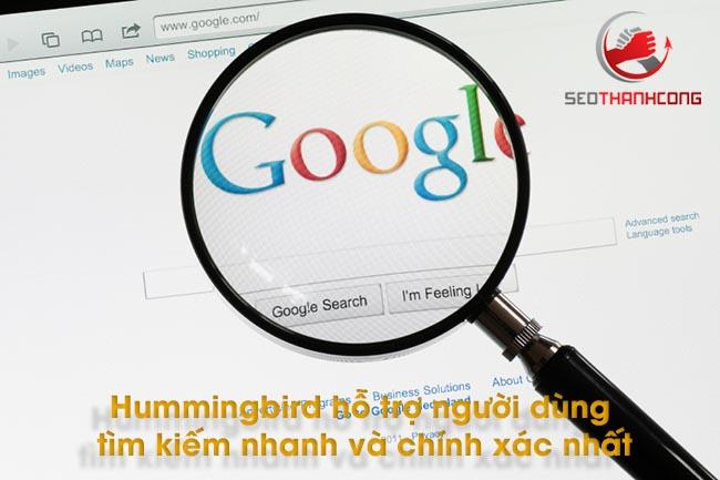 Hummingbird hỗ trợ người dùng tìm kiếm nhanh và chính xác nhất