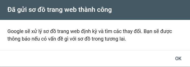 Khai báo website với Google