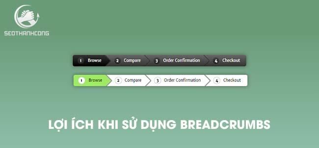 Breadcrumbs mang đến nhiều trải nghiệm tốt hơn cho người dùng