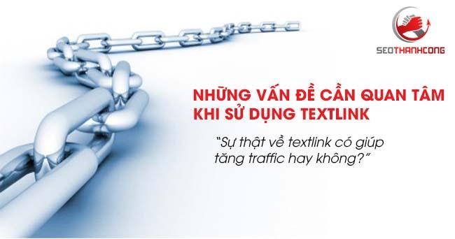 Những vấn đề cần quan tâm khi sử dụng textlink