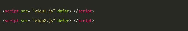 Thuộc tính Defer chỉ dẫn cho trình duyệt tải thẻ <script>
